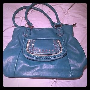 Turquoise Bling Purse